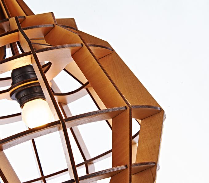 Wood pendant l& like pineapple shape  sc 1 st  Wood friends lighting & Wood pendant lamp like pineapple shape u2013 Wood friends lighting ...