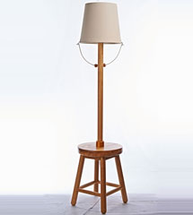 Modern Style Wooden Floor Lamp with four Legs