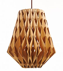 Honeycomb shape modern style wood pendant lamp