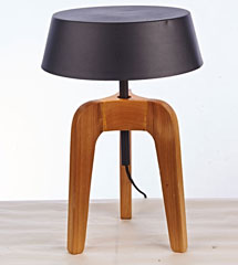 Black cooking vessel shade table lamp